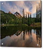 Pinnacle Peak Sunset Reflection Angles Acrylic Print