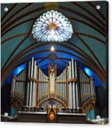 Pipe Organ Of Montreal Notre-dame Acrylic Print