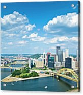 Pittsburgh, Pennsylvania Skyline With Acrylic Print