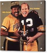 Pittsburgh Pirates Willie Stargell And Pittsburgh Steelers Sports Illustrated Cover Acrylic Print