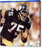 Pittsburgh Steelers Joe Greene... Sports Illustrated Cover Acrylic Print