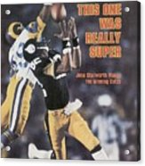 Pittsburgh Steelers John Stallworth, Super Bowl Xiv Sports Illustrated Cover Acrylic Print