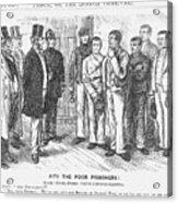 Pity The Poor Prisoners, 1868. Artist Acrylic Print
