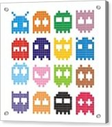Pixel Monster Icon Acrylic Print