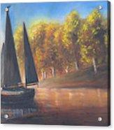 Plain Sailing, Boat Painting Acrylic Print