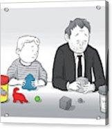 Play Doh Work Doh Acrylic Print