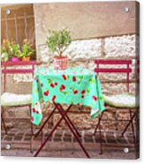 Please Have A Seat Acrylic Print
