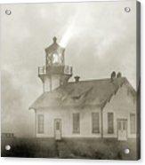 Point Cabrillo Lighthouse California Sepia Acrylic Print