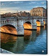 Pont-neuf And Samaritaine, Paris, France Acrylic Print