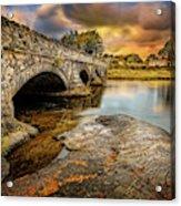 Pont Pen-y-llyn Bridge Snowdonia Acrylic Print