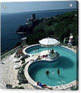 Pool At Villa Gli Arieti Acrylic Print