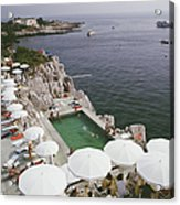 Pool By The Sea Acrylic Print