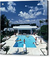 Pool In Palm Beach Acrylic Print