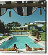 Poolside In Sotogrande Acrylic Print