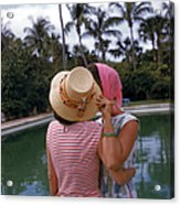 Poolside Secrets Acrylic Print