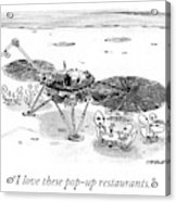 Pop Up Restaurants Acrylic Print