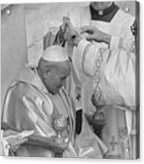 Pope John Paul II Receiving Pallium Acrylic Print