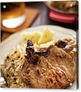 Pork Chop And Sauerkraut Acrylic Print