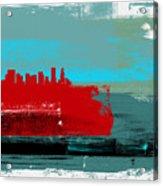 Portland Abstract Skyline I Acrylic Print