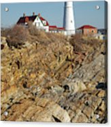 Portland Head Light - Cape Elizabeth Maine Acrylic Print