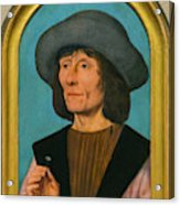 Portrait Of A Man With A Pink Acrylic Print