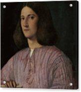 Portrait Of A Young Man Giustiniani Acrylic Print