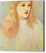 Portrait Of Cecily Horner Acrylic Print
