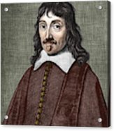 Portrait Of Descartes Acrylic Print