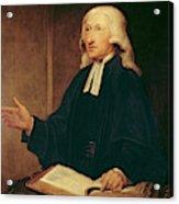 Portrait Of John Wesley Acrylic Print