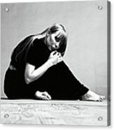 Portrait Of Joni Mitchell Acrylic Print