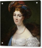 Portrait Of Josephine Victoire Meslier Duvey D  Acrylic Print