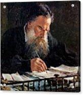 Portrait Of Leo Tolstoy Acrylic Print