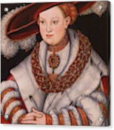 Portrait Of Magdalena Of Saxony, Wife Of Elector Koachim II Acrylic Print