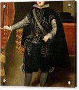 Portrait Of Philip Iv  Acrylic Print