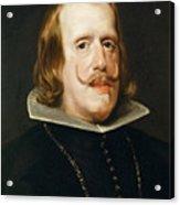 Portrait Of Philip Iv  King Of Spain  Acrylic Print