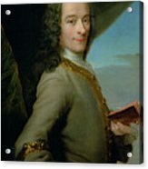 Portrait Of The Young Voltaire  Acrylic Print