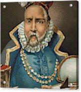 Portrait Of Tycho Brahe Acrylic Print