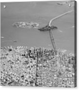 Portrait View Of Downtown San Francisco From Commertial Airplane Acrylic Print