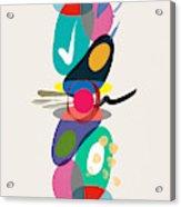 Positive Colors Building Acrylic Print