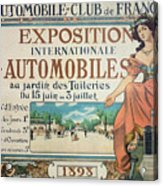 Poster Advertising The Exposition Internationale Automobiles At The Tuileries Gardens 1898 Acrylic Print
