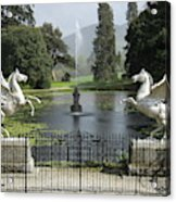 Powerscourt House Terrace And Fountain Acrylic Print