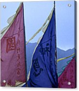 Prayer Flags To The Sea Goddess Blow In Acrylic Print