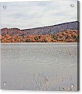 Prescott Arizona Watson Lake Hills Mountains Rocks Water Grasses Cloudy Sky 3142019 4920 Acrylic Print