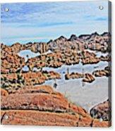 Prescott Arizona Watson Lake Rocks, Hills Water Sky Clouds 3122019 4870 Acrylic Print