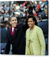 President Barack Obama And First Lady Acrylic Print