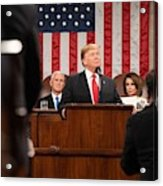 President Donald J. Trump Delivers His State Of The Union Address At The U.s. Capitol 2 Acrylic Print