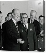 President Ford And General Secretary Acrylic Print