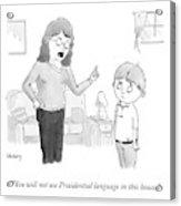 Presidential Language Acrylic Print