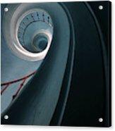 Pretty Blue Spiral Staircase Acrylic Print