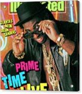 Prime Time Live Atlantas Neon Deion Sanders Sports Illustrated Cover Acrylic Print